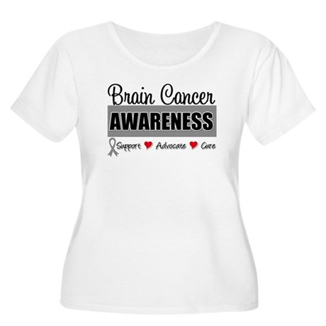 Brain Cancer Awareness Women's Plus Size Scoop Nec