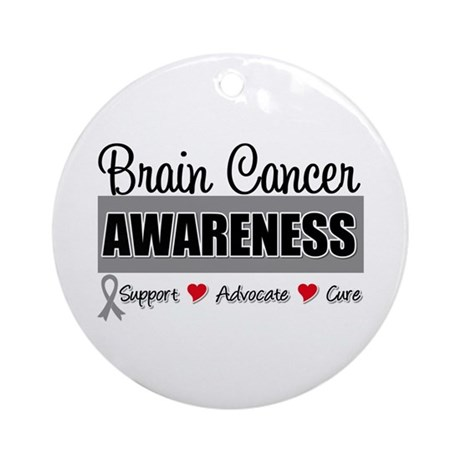Brain Cancer Awareness Ornament (Round)