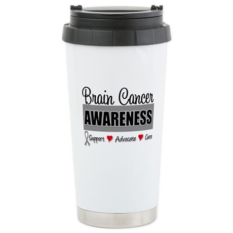 Brain Cancer Awareness Ceramic Travel Mug
