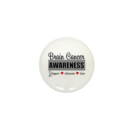 Brain Cancer Awareness Mini Button (100 pack)