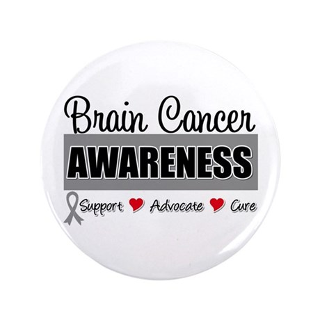 "Brain Cancer Awareness 3.5"" Button"