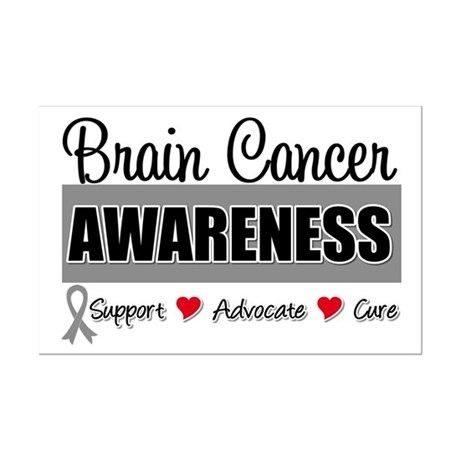Brain Cancer Awareness Mini Poster Print