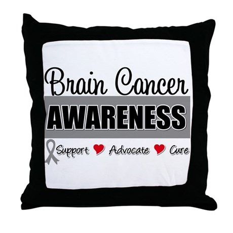 Brain Cancer Awareness Throw Pillow