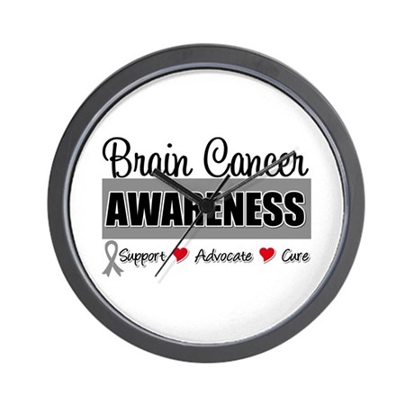 Brain Cancer Awareness Wall Clock