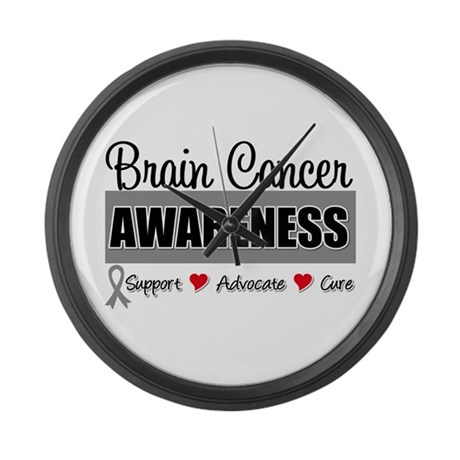 Brain Cancer Awareness Large Wall Clock