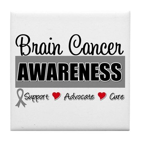 Brain Cancer Awareness Tile Coaster