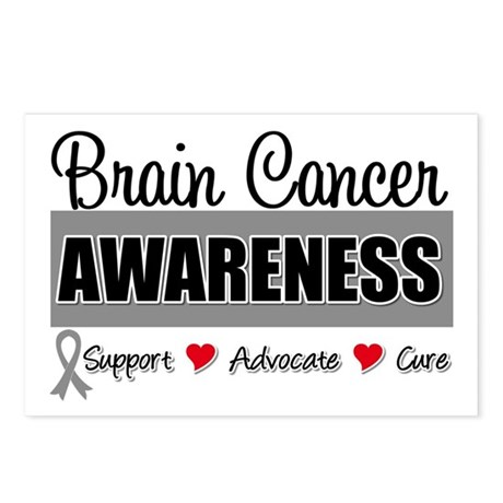 Brain Cancer Awareness Postcards (Package of 8)