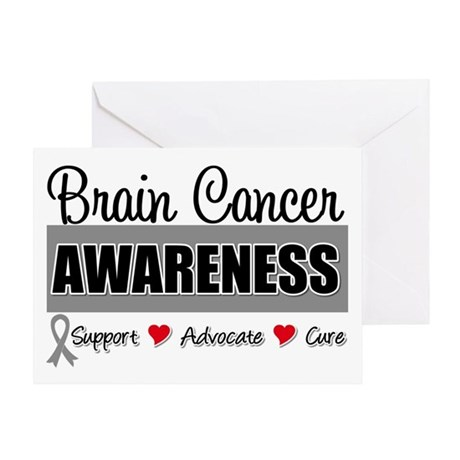 Brain Cancer Awareness Greeting Card