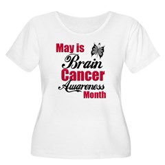 Brain Cancer Month Women's Plus Size Scoop Neck T-