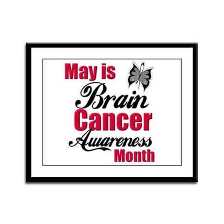 Brain Cancer Month Framed Panel Print