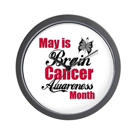 Brain Cancer Month Wall Clock