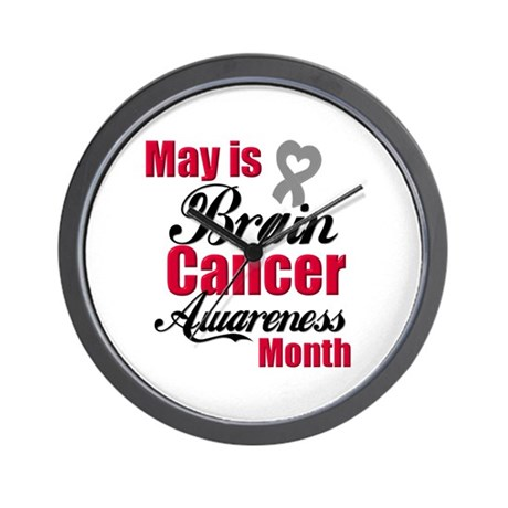 MayBrainCancerAwareness Wall Clock