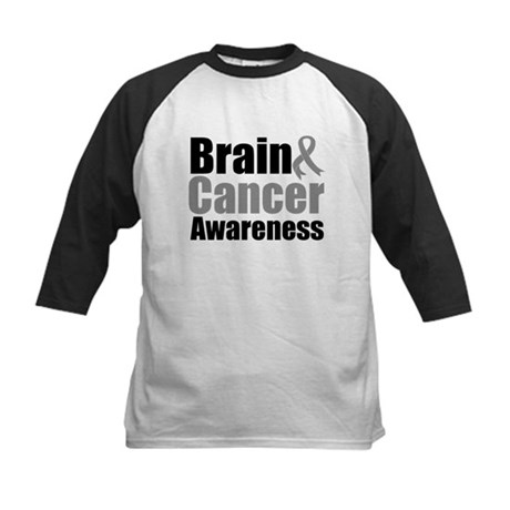 Brain Cancer Kids Baseball Jersey
