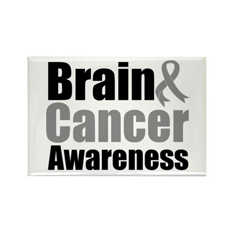 Brain Cancer Rectangle Magnet