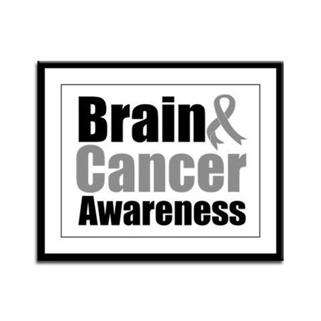Brain Cancer Framed Panel Print