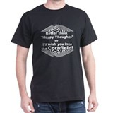 Happy Thoughts Cornfield - Black T-Shirt