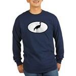 Crane Oval Long Sleeve Dark T-Shirt