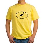 Crane Oval Yellow T-Shirt