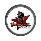 TheFighterInside.com Wall Clock