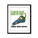 Earth Day Global Warming Framed Panel Print