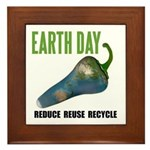 Earth Day Global Warming Framed Keepsake Tile