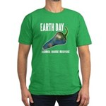 Earth Day Global Warming Men's Fitted T-Shirt (dar