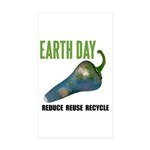 Earth Day Global Warming Rectangle Sticker 50 pk)