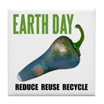 Earth Day Global Warming Tile Coaster