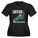 Earth Day Global Warming Women's Plus Size V-Neck