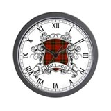 Wallace Tartan Shield Wall Clock