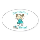 Big Sister Finally Oval Sticker (50 pk)