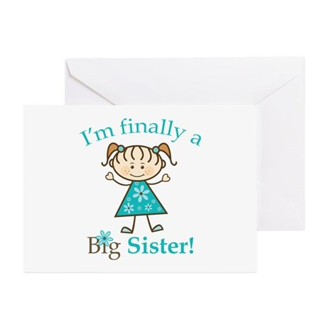 Big Sister Finally Greeting Cards (Pk of 10)