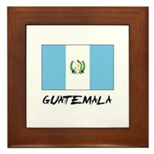 Guatemala Flag Framed Tile