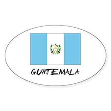 Guatemala Flag Oval Decal