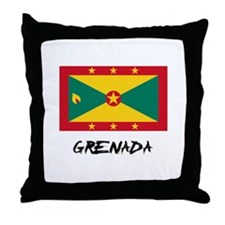 Grenada Flag Throw Pillow