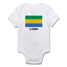 Gabon Flag Infant Bodysuit