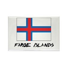 Faroe Islands Flag Rectangle Magnet