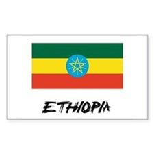Ethiopia Flag Rectangle Decal
