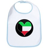 I love kuwait Flag Bib
