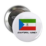 "Equatorial Guinea Flag 2.25"" Button"