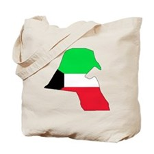 kuwait Flag Map Tote Bag