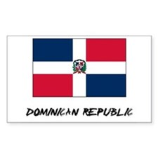 Dominican Republic Flag Rectangle Decal
