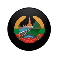 """Coat of Arms of Laos 3.5"""" Button"""