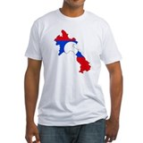 Laos Flag Map Shirt
