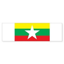 myanmar Flag Bumper Sticker (10 pk)