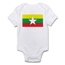 myanmar Flag Infant Bodysuit