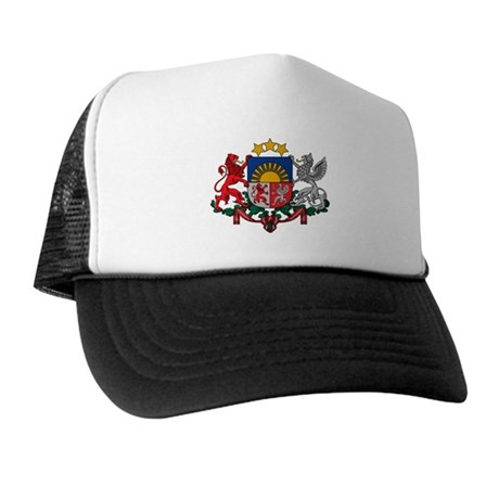 Latvia Coat of Arms Trucker Hat