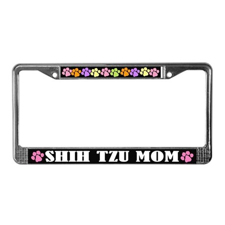 Shih Tzu Mom License Plate Frame