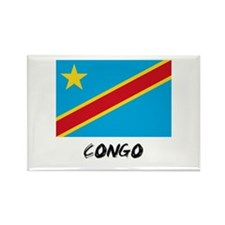 Congo Flag Rectangle Magnet