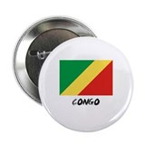 "Congo Flag 2.25"" Button"